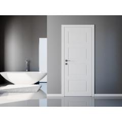 Двері міжкімнатні білі фарбовані Омега Лондон ПОО