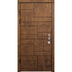 Вхідні двері з фареними накладками PS Пазл (DEC) Патріот
