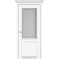 Міжкімнатні двері Корфад CL-02 білі (Екошпон)